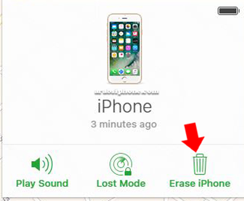 اختر Erase iPhone